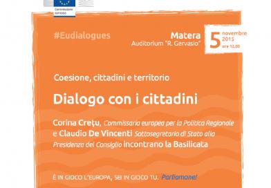 """La Commissaria Corina Crețu a Matera per il """"Dialogo con i cittadini"""""""