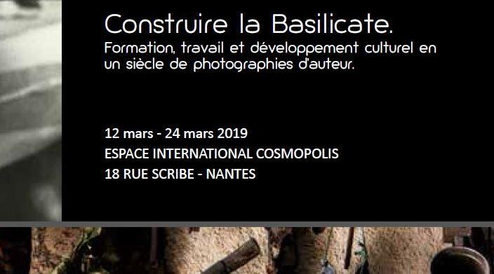 """Mostra """"Costruire la Basilicata"""" – dal 12 al 24 marzo – Nantes (Francia)"""